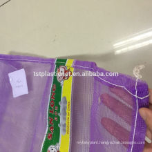 Pe Hot Sale Raschel Bag For Potato Onion Garlic