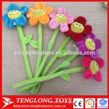 Fleurs en peluche moulables colorées au prix d'usine avec fil