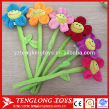 Factory price colorful moldable plush flowers with Wire