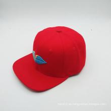 Casquillo del hip-hop de la manera del llano del logotipo del bordado 3D (ACEW079)