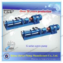 Bombas de tornillo motor de fábrica de motor eléctrico bombas de lodos de una sola cal