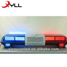 A polícia ilumina a sirene da barra e o altofalante / a barra clara da polícia A ambulância piscando a barra clara / a barra clara vermelha e azul do diodo emissor de luz de emergência