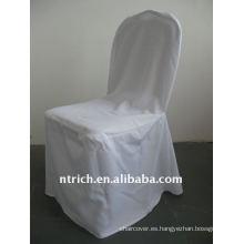 Funda para silla 100% poliéster, fundas para silla de hotel / banquete
