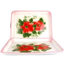 Beautiful and Useful Enamel Square Plate Wholesale