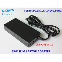YH-8003 65W Adaptateur secteur Slim adaptateur de voyage Adaptateur pour ordinateur portable