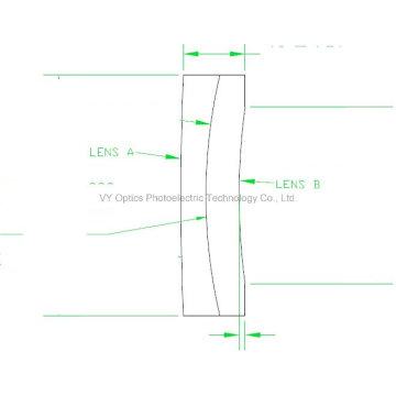 Optical Dia. 2.89inch Sf4 Glass and N-Lak10 Glass Glued Doulet