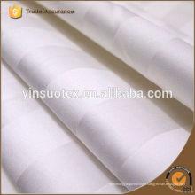 Vente en gros d'hôtels bon marché en satin rayé tissu / coton tissu de drap fournisseur