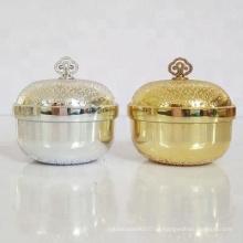 frasco de creme acrílico luxuoso da forma redonda do ouro e da prata, 30g, 50g