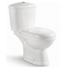 Style européen en céramique lavabo blanc salle de bain toilette à deux pièces (6802)