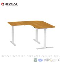 Ergonomic Office furniture height adjustable standing desk L shaped office workstation