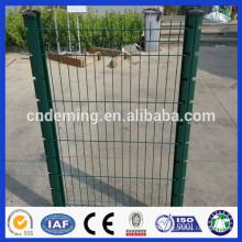 Schöner grüner PVC-beschichteter geschweißter Eisen-Draht-Ineinander greifen-Garten-Zaun