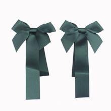 Green Satin Ribbon Bow