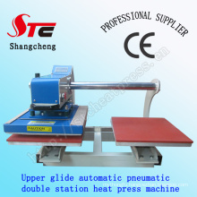 CE Certificate Heat Transfer Printing Machine 40*40cm Pneumatic Double Station Heat Press Machine Automatic Double Position T Shirt Sublimation Machine STC-QD05