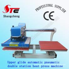 Сертификат CE теплопередачи печати машина 40 * 40 см пневматические двойной станции тепла пресс машина автоматическая двойной позиции T рубашка сублимации машина STC-QD05