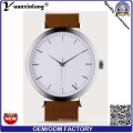Yxl-276 рекламные новый стиль часы нестандартная Конструкция кожаный Кварцевые наручные часы свободного покроя мода часы мужчины женщины OEM фабрики