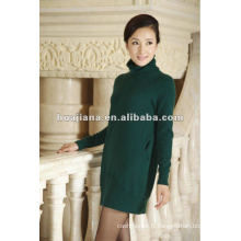 robe d'hiver à tricoter cachemire de dame élégante
