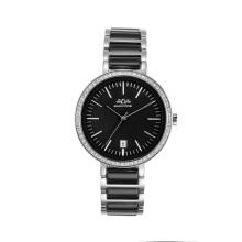 2017 reloj popular de las señoras del acero inoxidable de la moda del nuevo diseño