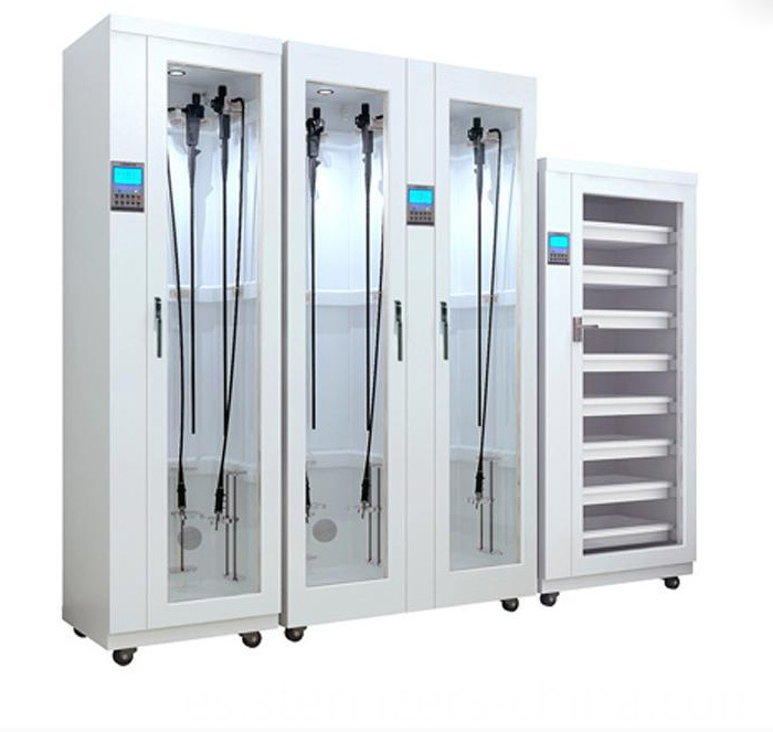 Endoscope cleaning storage device