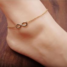 Golden 8 character pendant lady's foot chain Beach