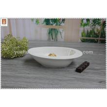 Chaozhou белый фарфоровый салат миска / фруктовая чаша