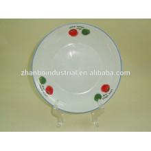 Porcelain fruit plate/soup plate/coupe plate glazed color