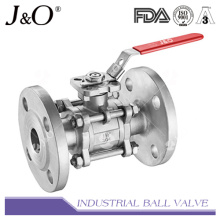 3PC Flanged End Ball Valve with Pad DIN Pn16 Pn40