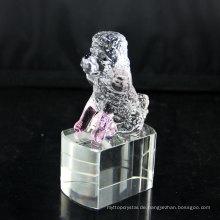 Preiswerte heiße Verkaufsqualität Kristallhundestatue Glasmini Hundefigürchen Großverkauf