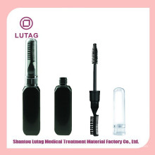 Double-edged black cosmetic jars plastic mascara packaging