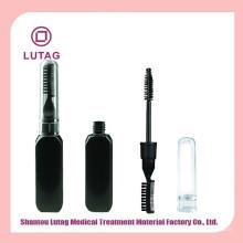 Embalagens de plástico rímel dois gumes preto frascos cosméticos