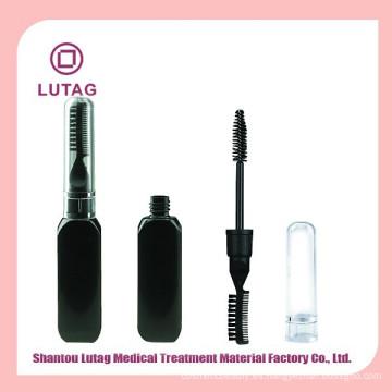 Doble filo negro tarros cosméticos rimel plástico embalaje
