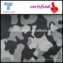 army design black grey camouflage print 100 cotton poplin weave light weight fabric for short
