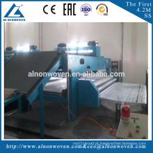 Agulha não tecida de alta velocidade / média do geotêxtil que perfura a máquina não tecida para a construção de estradas