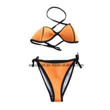 Fashion Yellow Color Neoprene Maillot de bain pour femme Bikini (SNBK05)