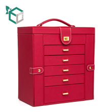 Luxury high end pu leather cardboard drawer delicate jewelry collect container showcase gift box