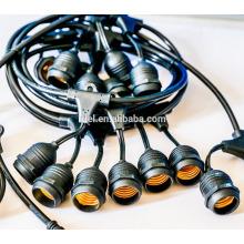 SLT-300 E27 Sockel Hängeleuchte Café Lichterkette Garten Glühbirne leuchtet String