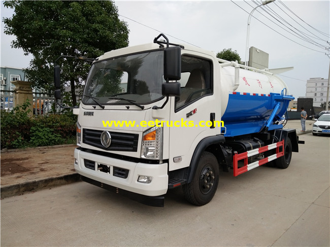 3 Ton 4000L Fecal Suction Trucks