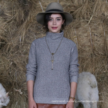 Suéter de cachemira del jersey del cuello alto de las mujeres del producto superventas con la mejor calidad