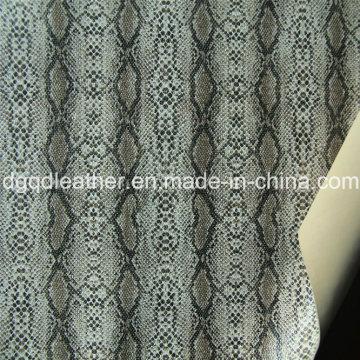 Superfície de cobra de couro de dupla face PU sapatos de couro (QDL-SP040)
