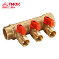 Natural color forging brass Water Manifold 3ways