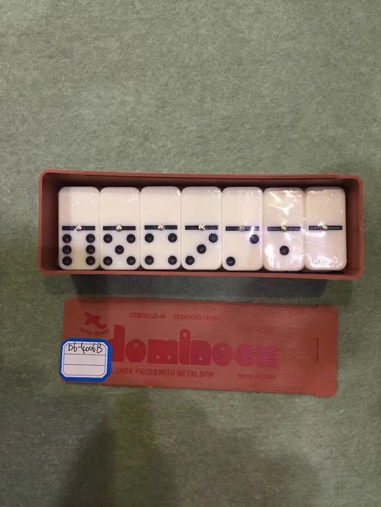 Tipo de gaveta Caixa de plástico Double 6 Dominoes Set
