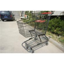 American Style Metall Draht Supermarkt Einkaufswagen