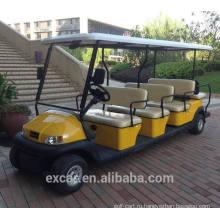 электрический экскурсионный автобус, туристический автобус, электрический автомобиль гольфа