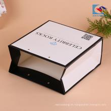 Bolsas de papel de compras personalizadas de alta calidad con cuerda de giro