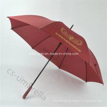"""Red Custom 27 """"Golf Werbung gerader Regenschirm mit Logo (YSS0112)"""