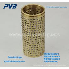 arcón de la guía de la bola del molde de perforación fría, rodamiento del retén de la bola de FZP, caja plástica de la bola del bronce del plasitc del acero azul