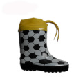 Boy winter rubber rain boots with drawstring rope