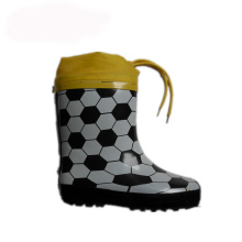 China Exporter for China Manufacturer of Kids Rubber Boot,Fireman Rubber Boot,Pvc Shoe Cover,Rain Shoe Cover Boy winter rubber rain boots with drawstring rope supply to Cote D'Ivoire Wholesale