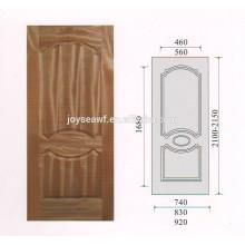 Folheado de teca natural de alta qualidade MDF / HDF porta pele