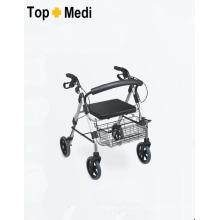Topmedi Equipamento Médico Rollator de alumínio dobrável com freio