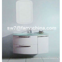 2013 Hochglanz-heißer Entwurf PVC-Badezimmer-Kabinett mit Glasbassin